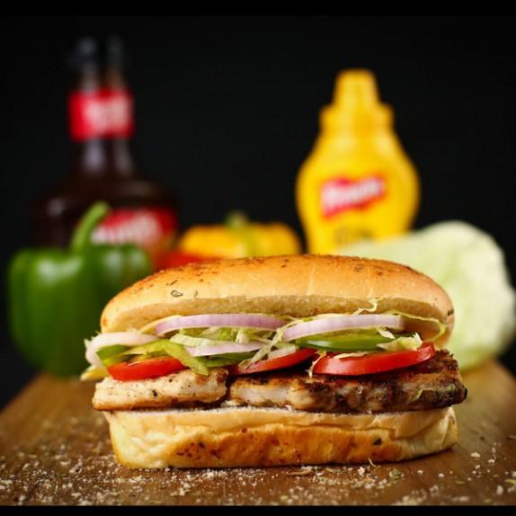 Grilled Fish Sub Sandwich